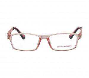 Square Pink Polycarbonate Large Vision Express 61318 Kids Eyeglasses