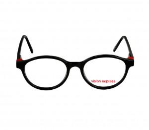 Round Black Polycarbonate Small Vision Express 61321 Kids Eyeglasses