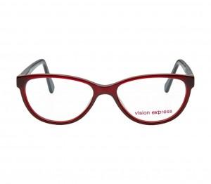 Cat Eye Wine Acetate Large Vision Express 61322 Kids Eyeglasses