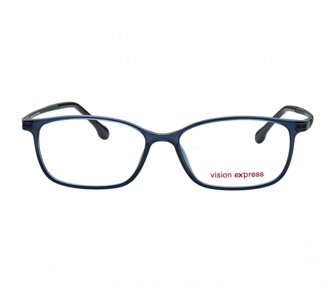 Full Rim Ultem Rectangle Grey Medium Vision Express 12070 Eyeglasses