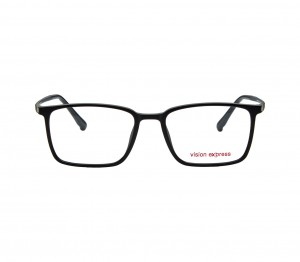 Full Rim Ultem Rectangle Black Medium Vision Express 29491 Eyeglasses