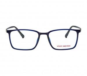 Full Rim Ultem Rectangle Blue Medium Vision Express 29491 Eyeglasses