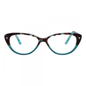 Full Rim Acetate Cat Eye Brown Medium Vision Express 49090 Eyeglasses