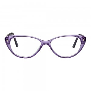 Full Rim Acetate Cat Eye Purple Medium Vision Express 49090 Eyeglasses