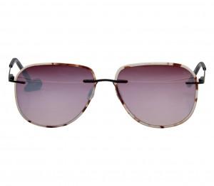 Aviator Pink Mirror Acetate Full Rim Large Vision Express 12069 Sunglasses
