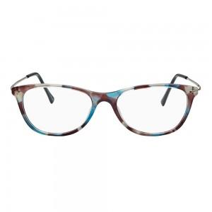 Full Rim Acetate Cat Eye Blue Medium Vision Express 49097 Eyeglasses
