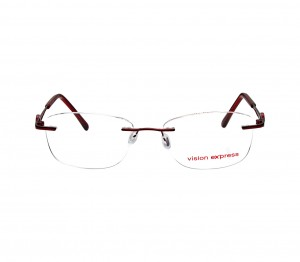 Rimless Metal Oval Wine Medium Vision Express 31834 Eyeglasses