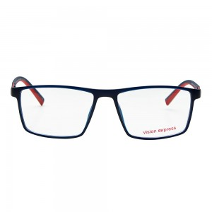 Full Rim Polycarbonate Rectangle Blue Medium Vision Express 29507 Eyeglasses