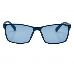 Rectangle Blue Polycarbonate Full Rim Medium Vision Express 21785 Sunglasses