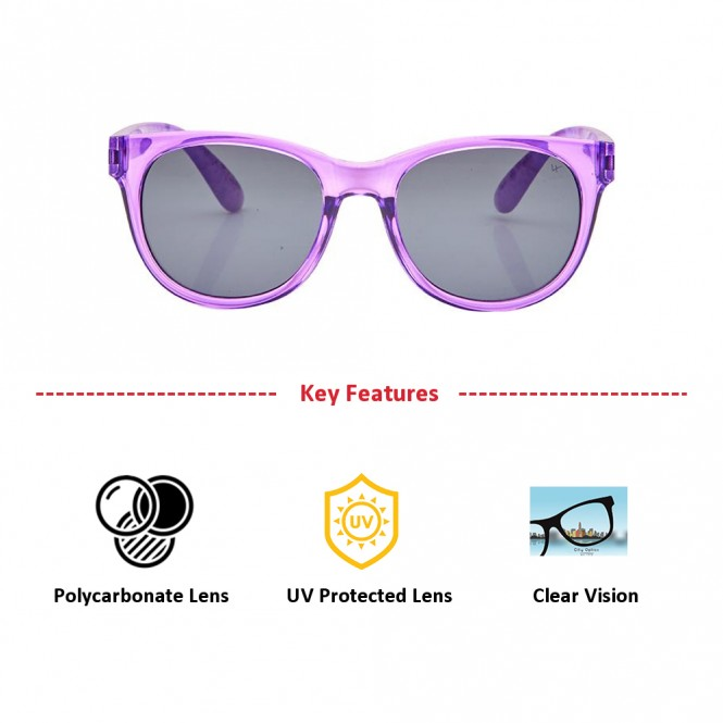 Round Grey Polycarbonate Small Vision Express 51189 Kids Sunglasses
