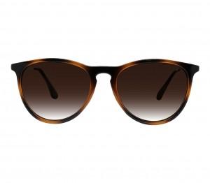 Round Brown Gradient Polycarbonate Full Rim Medium Vision Express 21802 Sunglasses