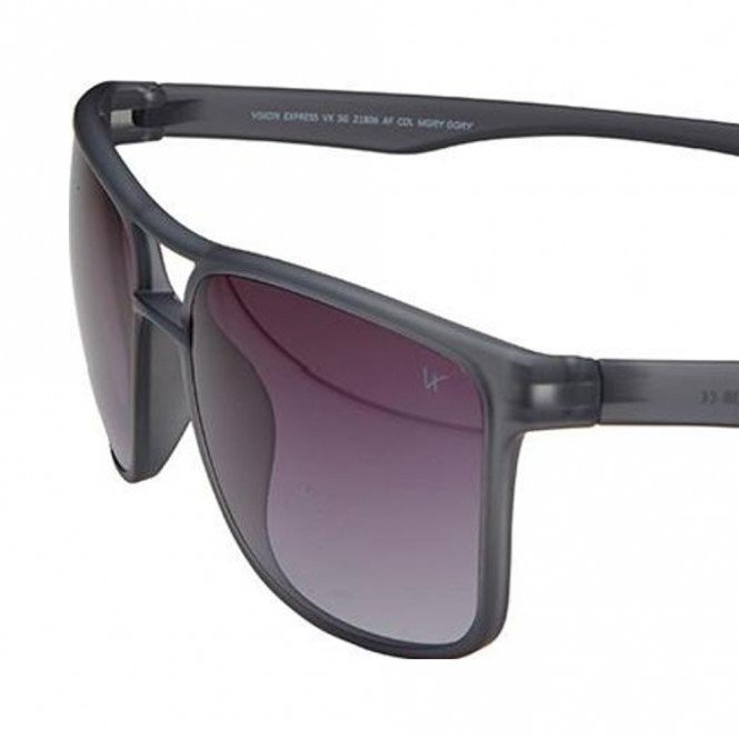 Rectangle Grey Polycarbonate Full Rim Medium Vision Express 21806 Sunglasses