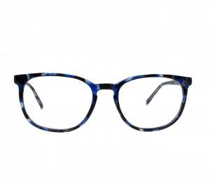 Full Rim Acetate Round Blue Unisex Medium Vision Express 12086AF Eyeglasses