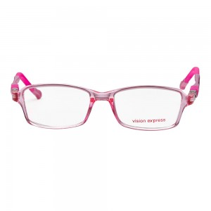 Rectangle Pink Polycarbonate Medium Vision Express 61354 Kids Eyeglasses