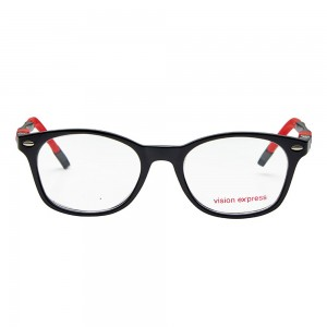 Wayfarer Black Polycarbonate Medium Vision Express 61357 Kids Eyeglasses
