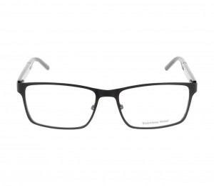 Full Rim Stainless Steel Rectangle Black Large DbyD DBOM5001 Eyeglasses
