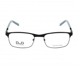 Full Rim Stainless Steel Rectangle Blue Medium DbyD DBOM0012 Eyeglasses