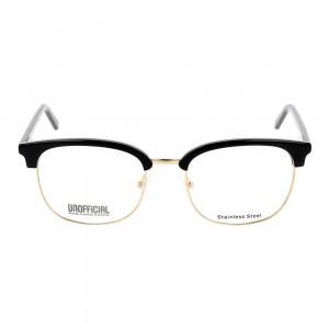 Full Rim Acetate Rectangle Black Medium Unofficial UNOM0128 Eyeglasses