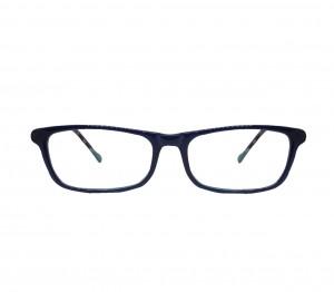 Blue Shield (Zero Power) Kids Computer Glasses: Rectangle Blue Acetate Large 61401AF