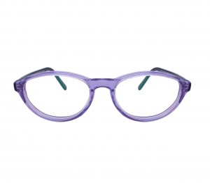 Blue Shield (Zero Power) Kids Computer Glasses: Oval Pink Acetate Small 61402AF