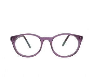 Blue Shield (Zero Power) Kids Computer Glasses: Round Pink Acetate Small 61403AF