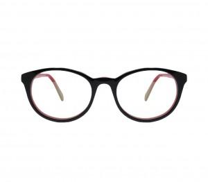 Blue Shield (Zero Power) Kids Computer Glasses: Round Black Acetate Small 61403AF