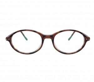 Blue Shield (Zero Power) Kids Computer Glasses: Round Brown Acetate Medium 61404AF