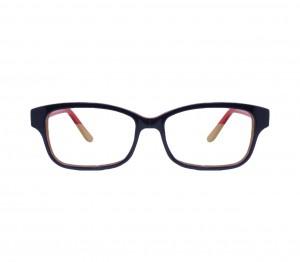 Blue Shield (Zero Power) Kids Computer Glasses: Oval Blue Acetate Large 61405AF