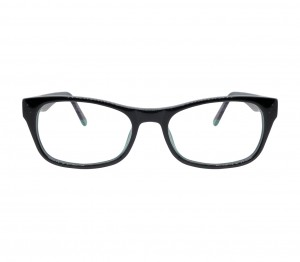 Blue Shield (Zero Power) Kids Computer Glasses: Oval Black Acetate Medium 61406AF