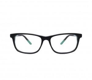 Blue Shield (Zero Power) Kids Computer Glasses: Rectangle Black Acetate Medium 61407AF