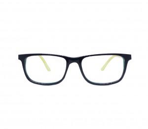 Blue Shield (Zero Power) Kids Computer Glasses: Rectangle Blue Acetate Medium 61407AF