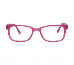 Blue Shield (Zero Power) Kids Computer Glasses: Rectangle Pink Acetate Large 61409AF