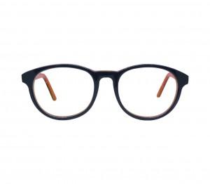 Blue Shield (Zero Power) Kids Computer Glasses: Round Black Acetate Small 61410AF
