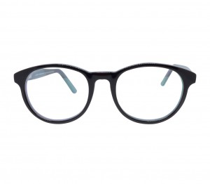 Blue Shield (Zero Power) Kids Computer Glasses: Round Brown Acetate Small 61410AF